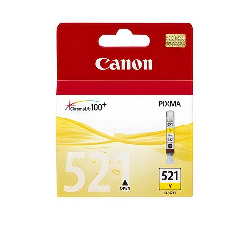 Картридж струйный CANON (CLI-521Y) Pixma MP540/630/980, желтый, оригинальный