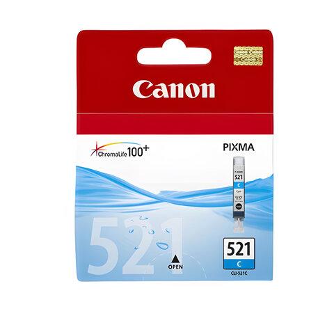 Картридж струйный CANON (CLI-521С) Pixma MP540/<wbr/>630/<wbr/>980, голубой, оригинальный