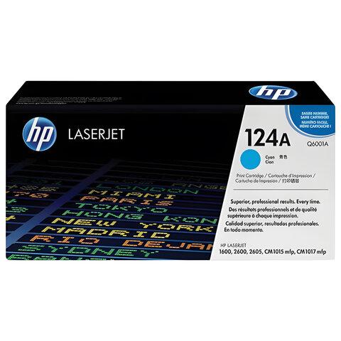 Картридж лазерный HP (Q6001A) ColorLaserJet CM1015/<wbr/>2600 и другие, голубой, оригинальный, 2000 стр.