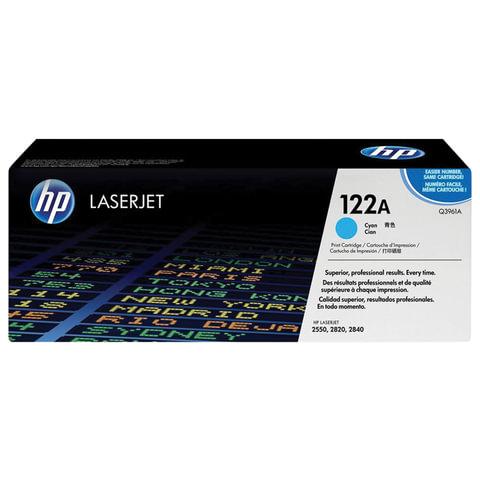 Картридж лазерный HP (Q3961A) ColorLaserJet 2550/2820 и другие, голубой, оригинальный, 4000 стр.