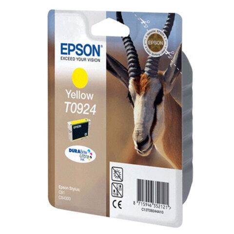 Картридж струйный EPSON (T10844A10) Stylus C91/CX4300, желтый, оригинальный