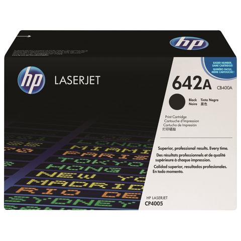Картридж лазерный HP (CB400A) ColorLaserJet CP4005, черный, оригинальный, ресурс 7500 стр.
