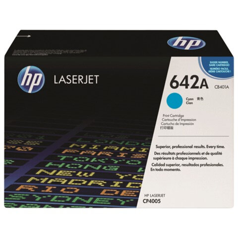 Картридж лазерный HP (CB401A) ColorLaserJet CP4005, голубой, оригинальный, ресурс 7500 стр.