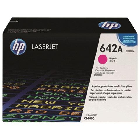 Картридж лазерный HP (CB403A) ColorLaserJet CP4005, пурпурный, оригинальный, ресурс 7500 стр.