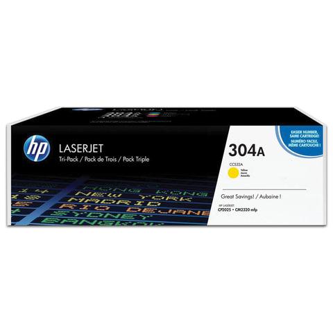 Картридж лазерный HP (CC532A) ColorLaserJet CP2025/CM2320, желтый, оригинальный, ресурс 2800 стр.
