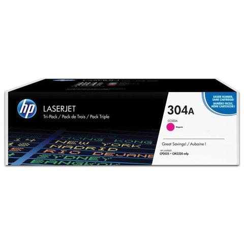 Картридж лазерный HP (CC533A) ColorLaserJet CP2025/<wbr/>CM2320, пурпурный, оригинальный, ресурс 2800 стр.