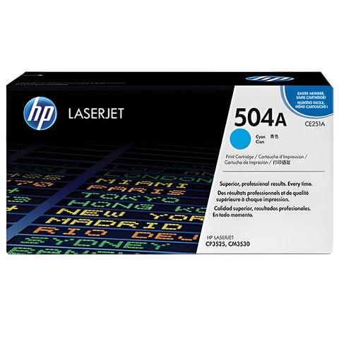 Картридж лазерный HP (CE251A) ColorLaserJet CP3525/<wbr/>CM3530, голубой, оригинальный, ресурс 7000 стр.