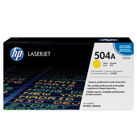 Картридж лазерный HP (CE252A) ColorLaserJet CP3525/CM3530, желтый, оригинальный, ресурс 7000 стр.