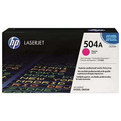 Картридж лазерный HP (CE253A) ColorLaserJet CP3525/<wbr/>CM3530, пурпурный, оригинальный, ресурс 7000 стр.