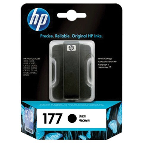 Картридж струйный HP (C8721HE) Photosmart C7283/<wbr/>C8183, №177, черный, оригинальный, ресурс 410 стр.