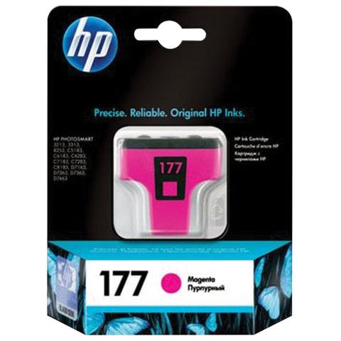 Картридж струйный HP (C8772HE) Photosmart C7283/<wbr/>C8183, №177, пурпурный, оригинальный, ресурс 370 стр