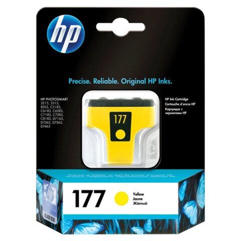 Картридж струйный HP (C8773HE) Photosmart C7283/C8183, №177, желтый, оригинальный, ресурс 500 стр.