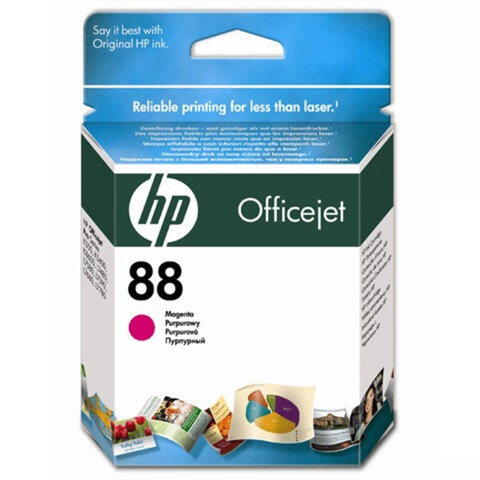 Картридж струйный HP (C9387AE) Officejet pro L7680/L7780, №88, пурпурный, оригинальный, 1000 стр.