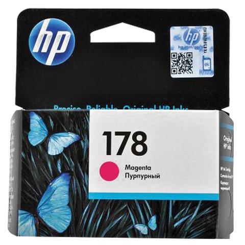 Картридж струйный HP (CB319HE) Photosmart C6383/D5463 №178, пурпурный, оригинальный, ресурс 300 стр.