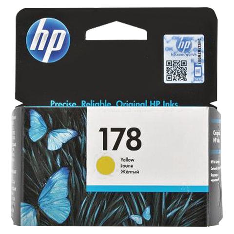 Картридж струйный HP (CB320HE) Photosmart C6383/D5463 №178, желтый, оригинальный, ресурс 300 стр.