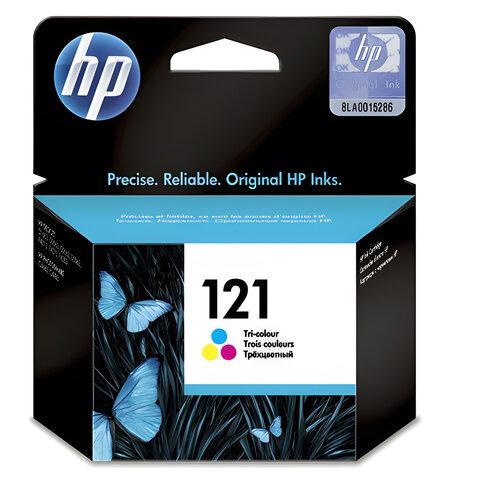 Картридж струйный HP (CC643HE) Deskjet F4275/<wbr/>F4283 №121, цветной, оригинальный, ресурс 165 стр.