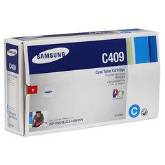 Картридж лазерный SAMSUNG (CLT-C409S) CLP-310/<wbr/>315 и другие, голубой, оригинальный, ресурс 1000 стр.