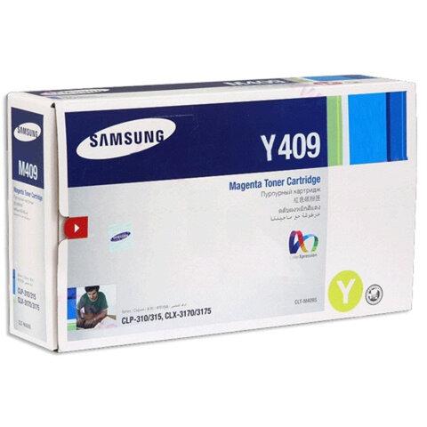 Картридж лазерный SAMSUNG (CLT-Y409S) CLP-310/<wbr/>315 и другие, желтый, оригинальный, ресурс 1000 стр.