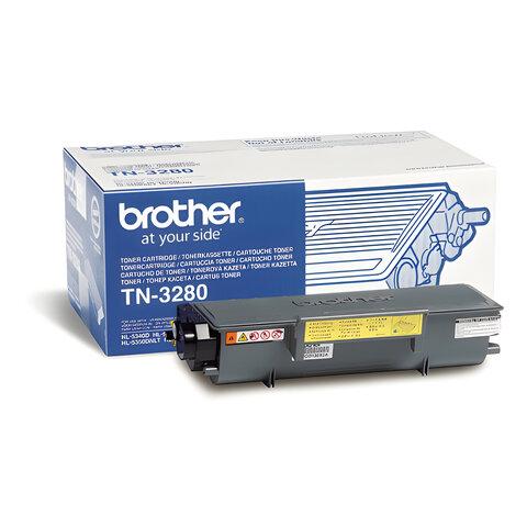 Картридж лазерный BROTHER (TN3280) HL-5340D/5350DN5370W и другие, оригинальный, ресурс 8000 стр.