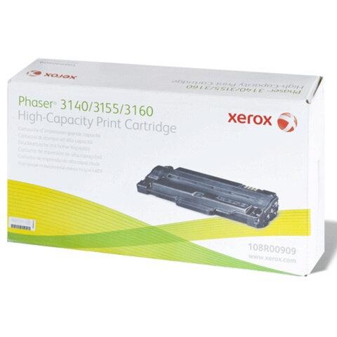 Картридж лазерный XEROX (108R00909) Phaser 3140/<wbr/>3155/<wbr/>3160, оригинальный, ресурс 2500 стр.