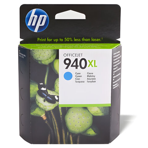 Картридж струйный HP (C4907AE) Officejet pro 8000/8500, №940, голубой, оригинальный, ресурс 1400 стр