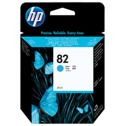 Картридж струйный для плоттера HP (CH566A) Designjet 510/500/500 Plus/500PS, №82, голубой, 28 мл