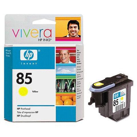 Головка печатающая для плоттера HP (C9422A) Designjet 130/<wbr/>90/<wbr/>30, №85, желтая, оригинальная