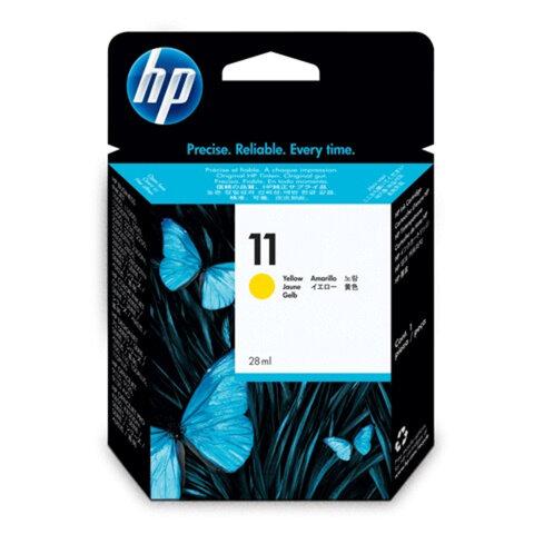 Картридж струйный HP (C4838A) DesignJet 70/100/110/120, №11, желтый, оригинальный, ресурс 2550 стр.