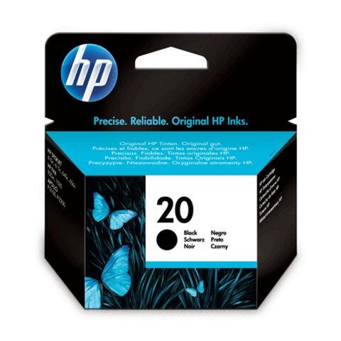 Картридж струйный HP (C6614DE) Deskjet 610C/612C/615C/640C/656C, №20, черный, оригинальный, 455 стр.