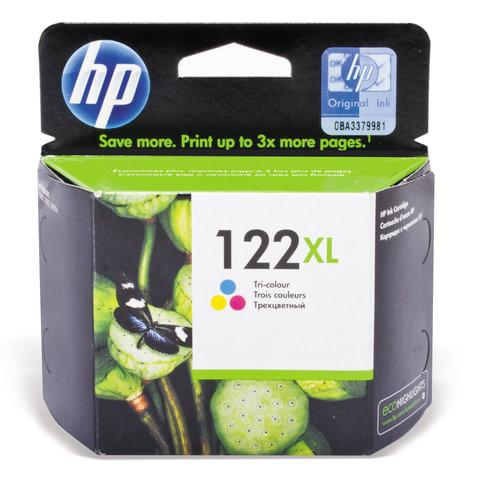 Картридж струйный HP (CH564HE) Deskjet 1050/<wbr/>2050/<wbr/>2050S, №122XL, цветной, оригинальный, 330 стр.