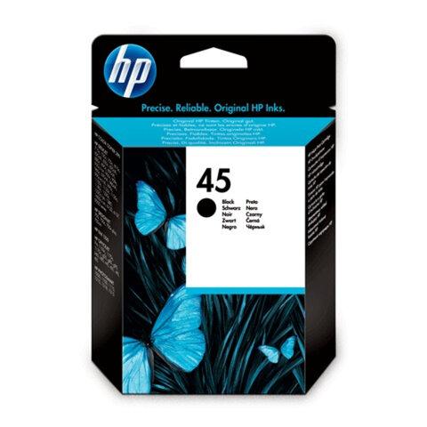 Картридж струйный HP (51645GE) Deskjet 720/<wbr/>820/<wbr/>1120/<wbr/>1220 и др., №45, черный, оригинальный, 415 стр.