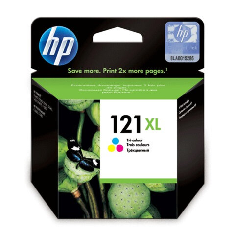 Картридж струйный HP (CC644HE) Deskjet D2500/<wbr/>2530/<wbr/>F4200, №121XL, цветной, оригинальный, 440 стр.
