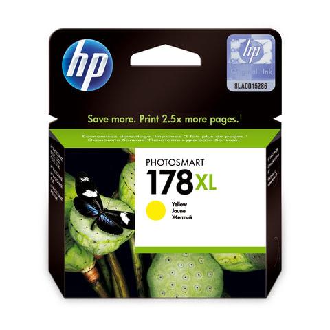 Картридж струйный HP (CB325HE) Photosmart D5400, №178XL, желтый, оригинальный, ресурс 750 стр.