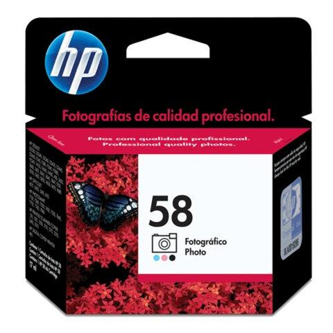 Картридж струйный HP (C6658AE) Deskjet 5550/<wbr/>Officejet 6110 и др., №58, фото цветной, оригинальный