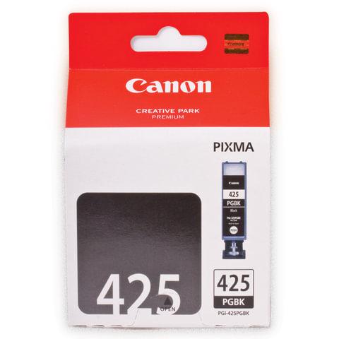 Картридж струйный CANON (PGI-425BK) Pixma MG5140/<wbr/>MG5240/<wbr/>MG6140/<wbr/>MG8140, черный, оригинальный, 344 стр