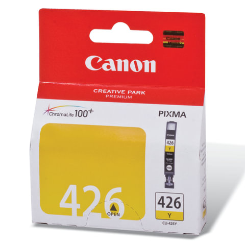 Картридж струйный CANON (CLI-426Y) Pixma MG5140/MG5240/MG6140/MG8140, желтый, оригинальный, 446 стр.
