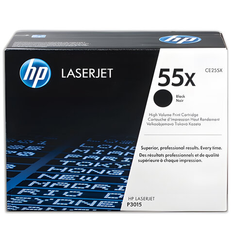 Картридж лазерный HP (CE255X) LaserJet P3015d/P3015dn/P3015x, №55X, оригинальный, ресурс 12500 стр.