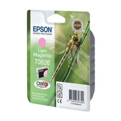 Картридж струйный EPSON (C13T08264A10) Stylus TX650/T50/R270/R390/RX590, светло-пурпурный, оригин.