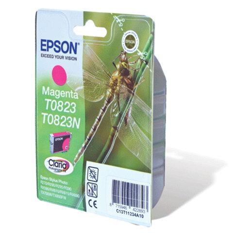 Картридж струйный EPSON (C13T08234A10) Stylus TX650/T50/R270/R390/RX590, пурпурный, оригинальный