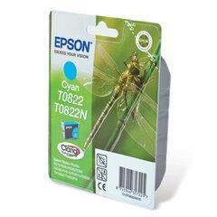 Картридж струйный EPSON (C13T08224A10) Stylus TX650/<wbr/>T50/<wbr/>R270/<wbr/>R390/<wbr/>RX590, голубой, оригинальный