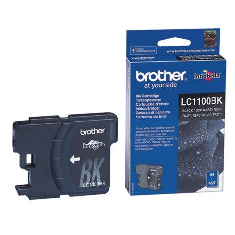 Картридж струйный BROTHER (LC-1100BK) DCP-6690CW/385C, MFC-990CW, черный, ориг., ресурс 450 стр.