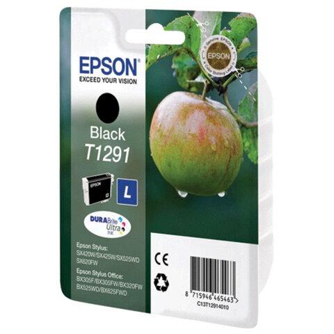 Картридж струйный EPSON (C13T12914011/21) Stylus B42WD/BX305W/BX320FW/BX625WD/SX525WD, черный, оригинальный