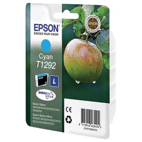 Картридж струйный EPSON (C13T12924011/21) Stylus B42WD/BX305W/BX320FW/BX625WD/SX525WD, голубой, оригинальный