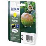 Картридж струйный EPSON (C13T12944011/<wbr/>21) Stylus B42WD/<wbr/>BX305W/<wbr/>BX320FW/<wbr/>BX625WD/<wbr/>SX525WD, желтый, оригинальный