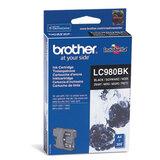 Картридж струйный BROTHER (LC980BK) DCP-145C/<wbr/>165C/<wbr/>195C/<wbr/>375CW, черный, оригинальный, ресурс 300 стр.
