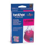 Картридж струйный BROTHER (LC980M) DCP-145C/<wbr/>165C/<wbr/>195C/<wbr/>375CW, пурпурный, оригинальный, ресурс 260 стр