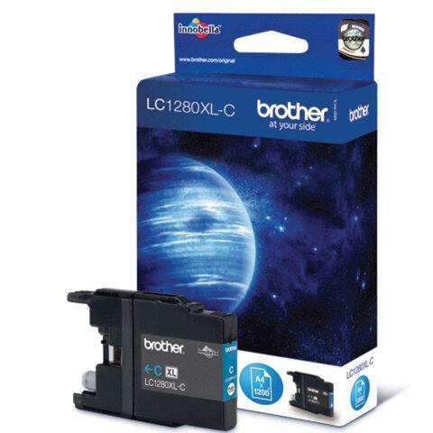 Картридж струйный BROTHER (LC1280XLC) MFC-J6510DW/<wbr/>J6910DW/<wbr/>J5910DW/<wbr/>J430W, голубой, оригинальный
