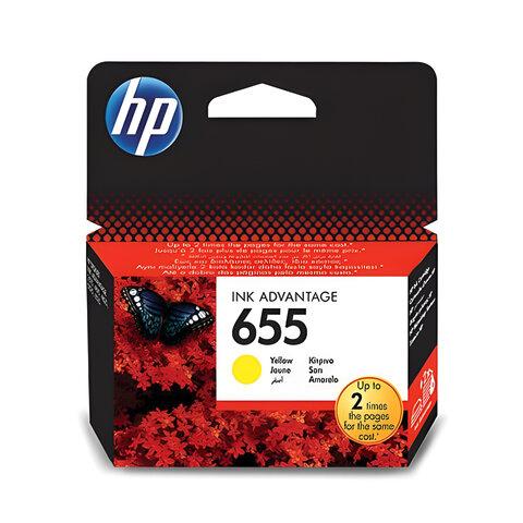 Картридж струйный HP (CZ112AE) Deskjet Ink Advantage 3525/<wbr/>5525/<wbr/>4515/<wbr/>4525 №655, желтый, оригинальный