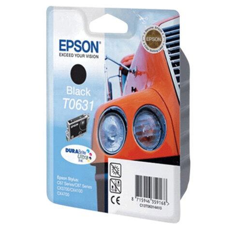 Картридж струйный EPSON (C13T06314A10) Stylus C67/87/CX3700/4100/4700, черный, оригинальный