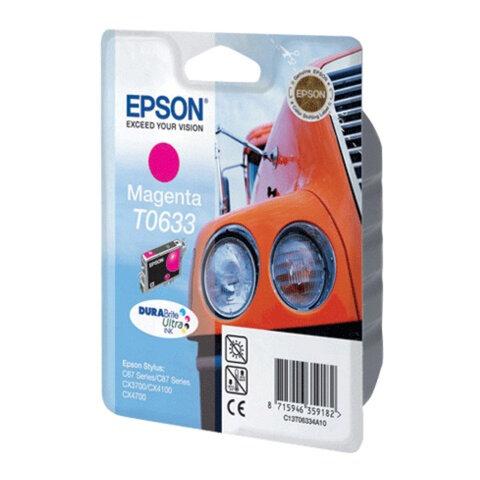 Картридж струйный EPSON (C13T06334A10) Stylus C67/87/CX3700/4100/4700, пурпурный, оригинальный